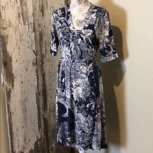 Tahari stretch wrap dress